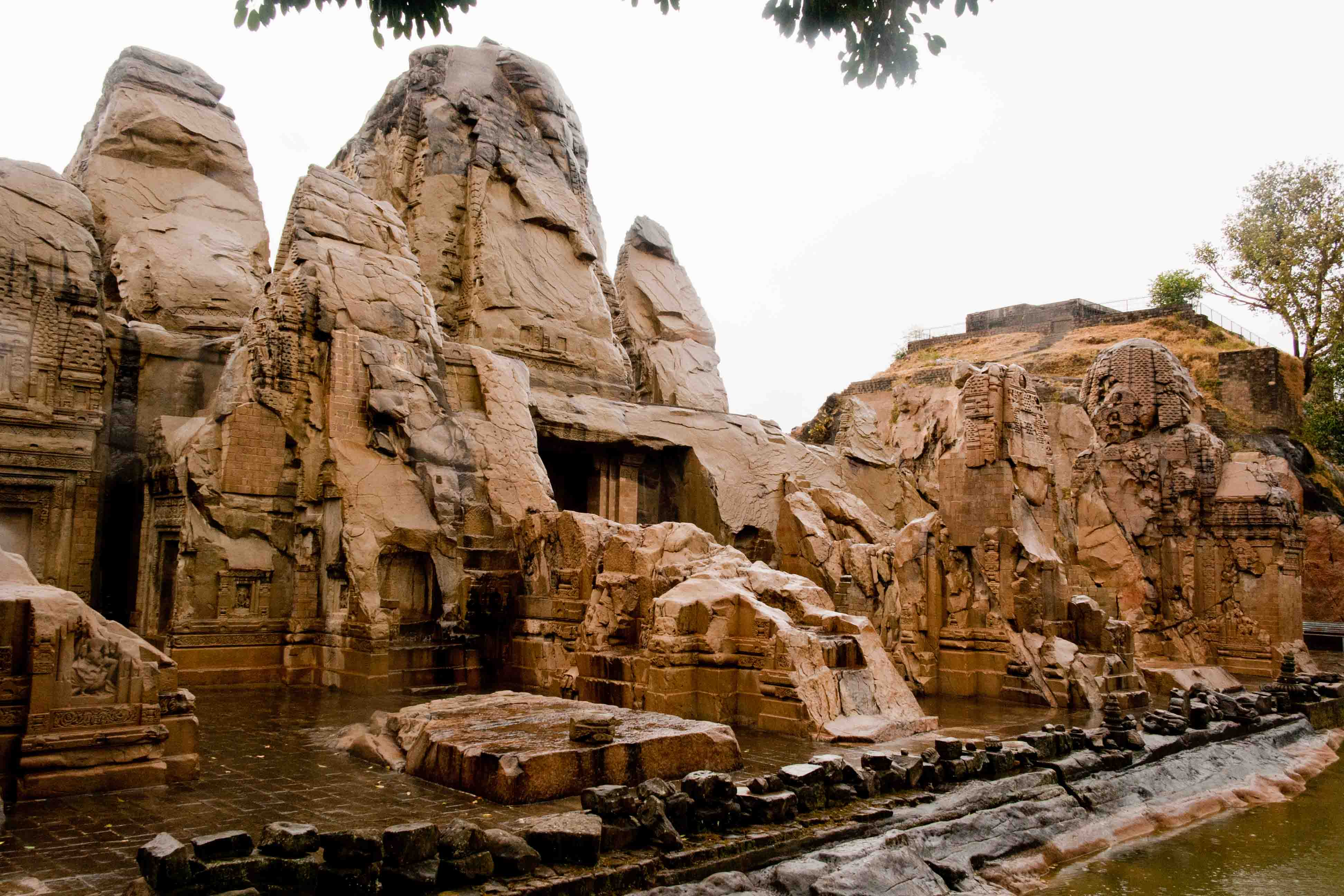 Rock cut temple in hp webcam