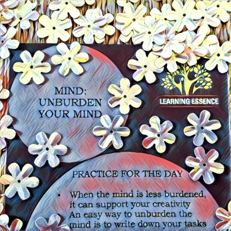 #NaBloPoMo: Day #25: Mind- Unburden your mind!
